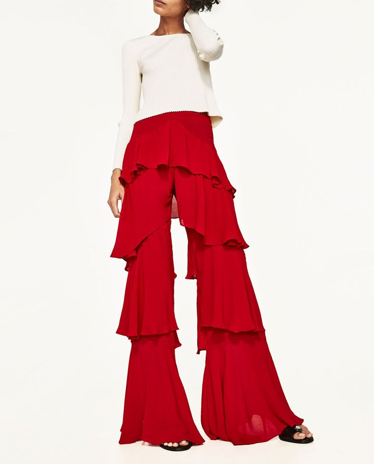 TROUSERS WITH FRILLS - Available in more colours