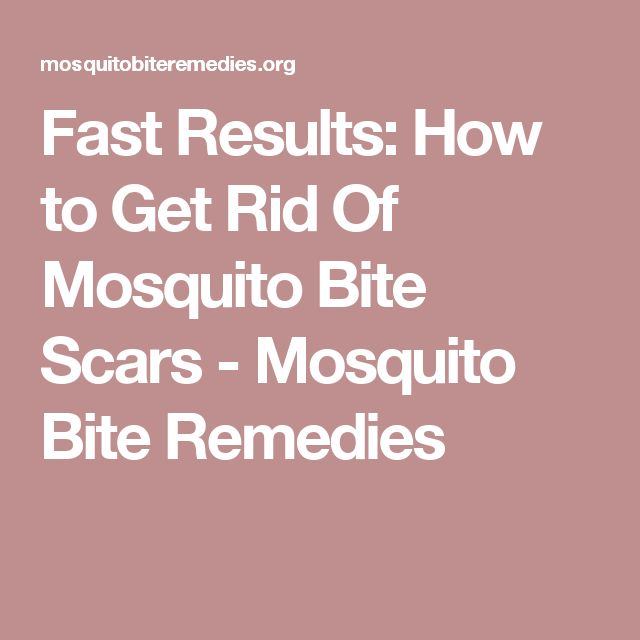 Fast Results How To Get Rid Of Mosquito Bite Scars Mosquito Bite Remedies Mosquitos