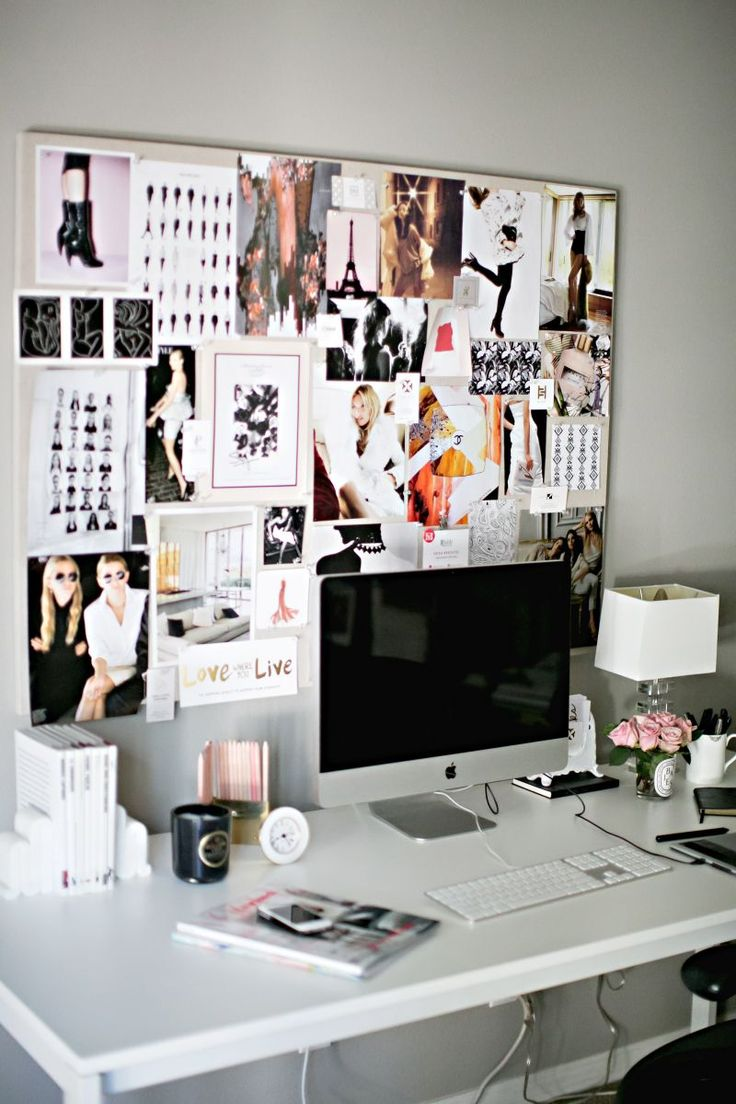 love the inspiration board - workspace