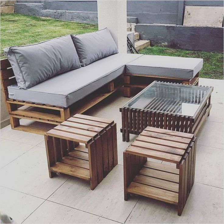 40 Diy Ideas Outdoor Furniture Made From Pallets Pallet Patio