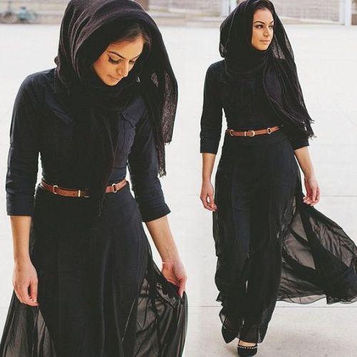 black long cardigan hijab chic, Hijab trends 2016 http://www.justtrendygirls.com/hijab-trends-2016/