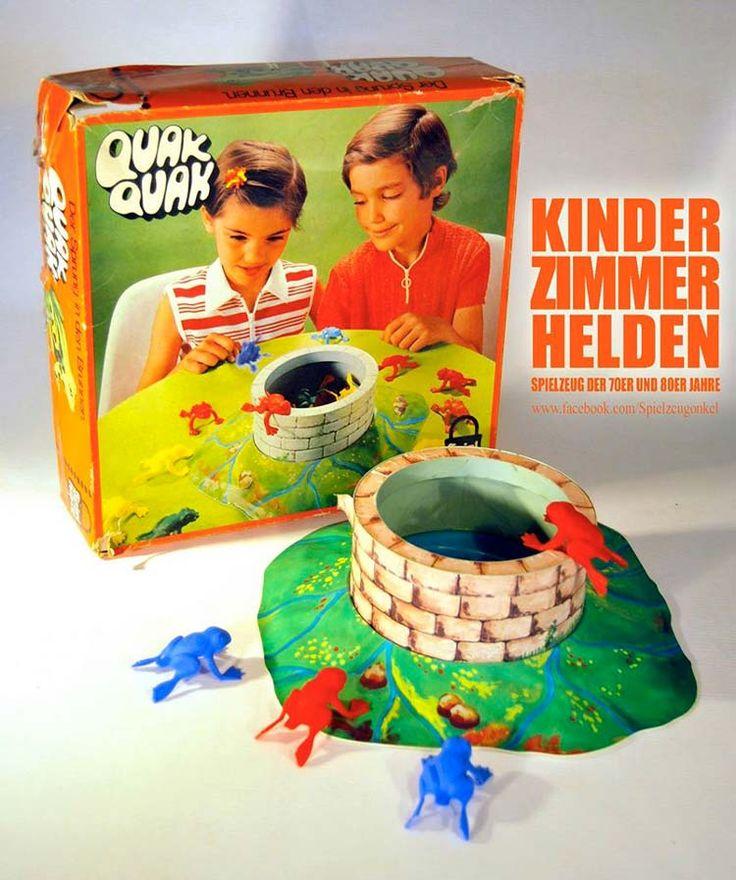 Ist es nicht der Hammer, wie einfach man Kinder in den 80er Jahren beschäftigen konnte? Bei dem Spiel Quak Quak hat man  tatsächlich stundenlang Frösche in einen Brunnen versuch zu katapultieren.   unfassbar.es