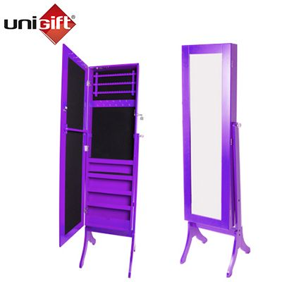 Bijoux Full Length Mirrored Jewellery Cabinet - Purple | Buy Jewellery Cabinets Online - oo.com.au