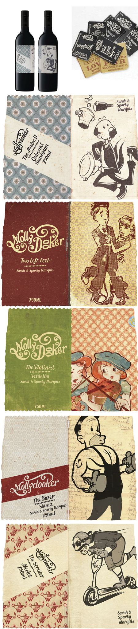molly dooker's wine labels. other images were too small so got this off of google