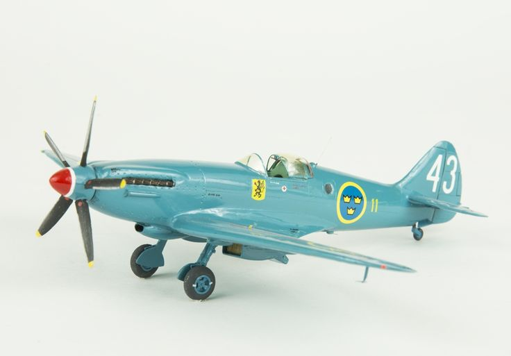 Model aeroplane S 31 Spitfire MK XIX. Skala 1:72   Flygvapenmuseum   CC BY