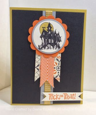 Stampin' Fun with Diana: Hand Stamped Sentiments Sketch Challenge: Best of Halloween, Hand Stamped Sentiments, Best of Halloween, Halloween, Cards, Stampin' Up, Diana Eichfeld
