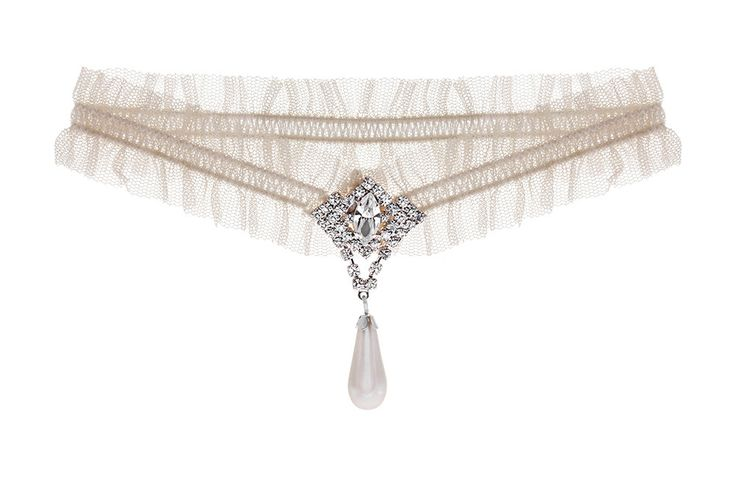 Pearl and crystal vintage wedding garter from Debbie Carlisle
