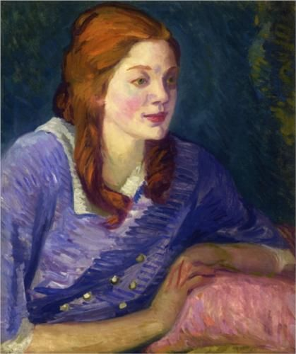 Carol with Red Curls - John French Sloan 1913