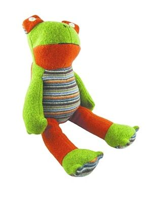 34% OFF Cate and Levi Unisex Frog Stuffed Animals , Green/Red