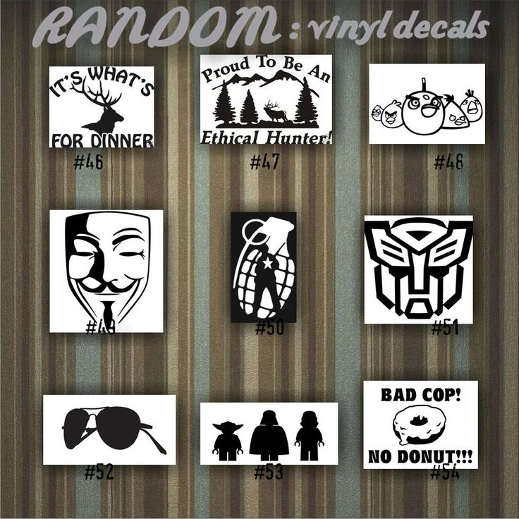 RANDOM Vinyl Decals   46 54   Car Sticker   Custom Vinyl Decal    Personalized