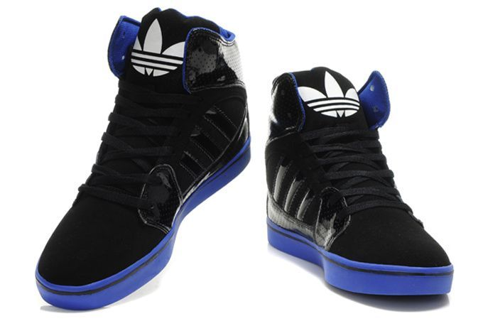 hightops | Adidas High Tops Black Blue [Adidas High Tops] - $82.00 : Justin ...
