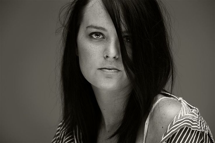 Another shot of Megan in the studio, shot by Geoff Powell