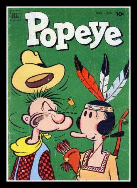 Fridge Magnet vintage Popeye Olive Oyl comic book by Vividiom, $3.50