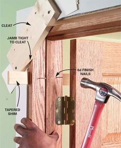 How to hang a door correctly. We have some inside doors to fix.