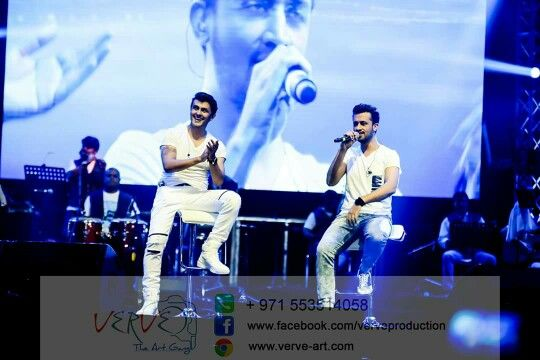Sonu Nigam and Atif Aslam perform at Dubai 10 September 2015