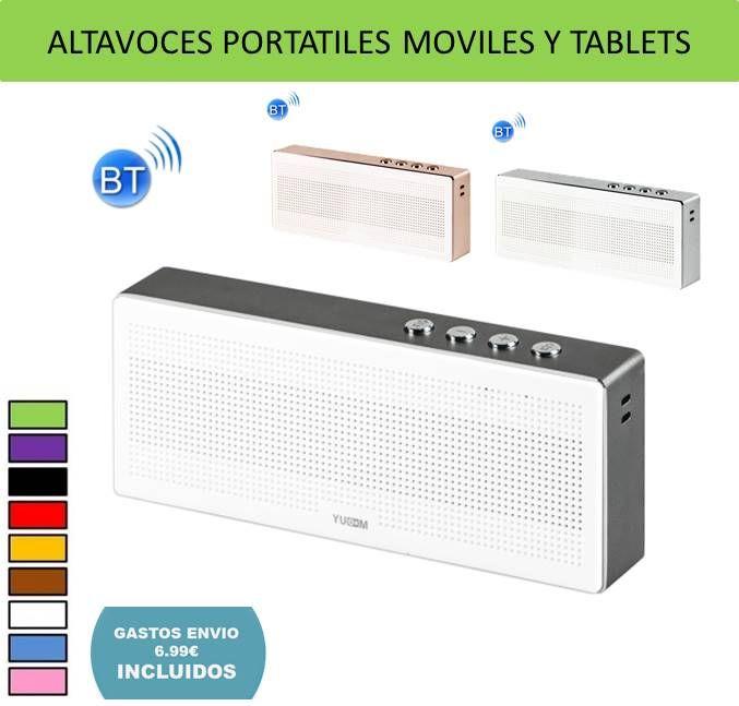 Electronica y tecnologia: Altavoces para moviles y tablets bluetooth inalambricos y portatiles. Compatibles con iPhone, Samsung, iPad...
