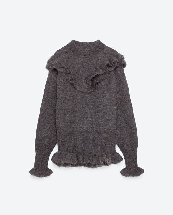 Image 8 of FRILLED MOHAIR SWEATER from Zara