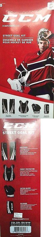 Other Hockey Goalie Equipment 79765: Ccm Jr. Street Hockey Goalie Kit -> BUY IT NOW ONLY: $109.99 on eBay!