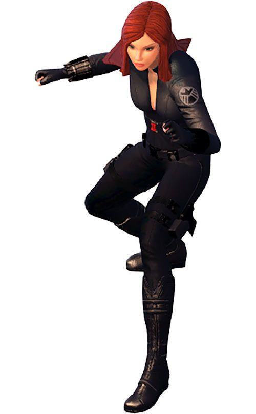 Black Widow (Marvel Heroes video game) ready for action. From http://www.writeups.org/black-widow-marvel-heroes-game/