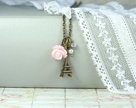 Eiffel Tower Jewelry French Necklace Paris by IngridsCreations