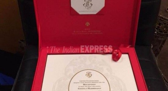 Cricketer Harbhajan Singh and girlfriend Geeta Basra's wedding reception card information are out. The picture that has been circulating on the social network shows the wedding invite carefully packed in a bright red box. The invitee's name is printed on it in gold embossing. The initials of Geeta and Harbhajan's names have been engraved on the cover and the invitation...  Read More