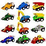 Review for Mini Spielzeugauto Fahrzeuge Modell Lkw Bagger Bulldozer Rennwagen Spielen für K... - Alessandra Mauro - Blog Booster