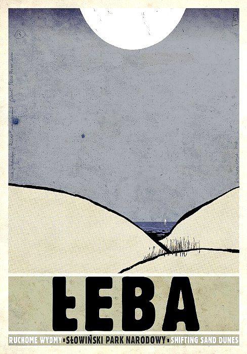 Leba, Shifting Sand Dunes, Polish Poster - Ryszard Kaja