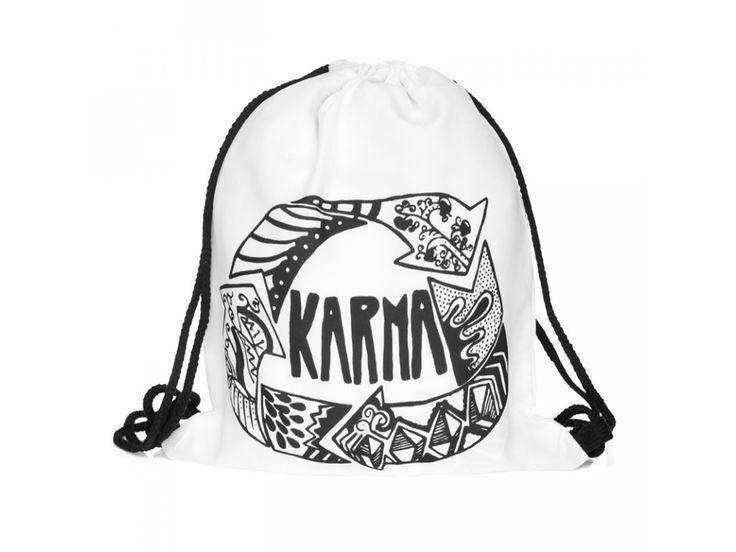 Vak na záda Gymsack s potiskem - Karma