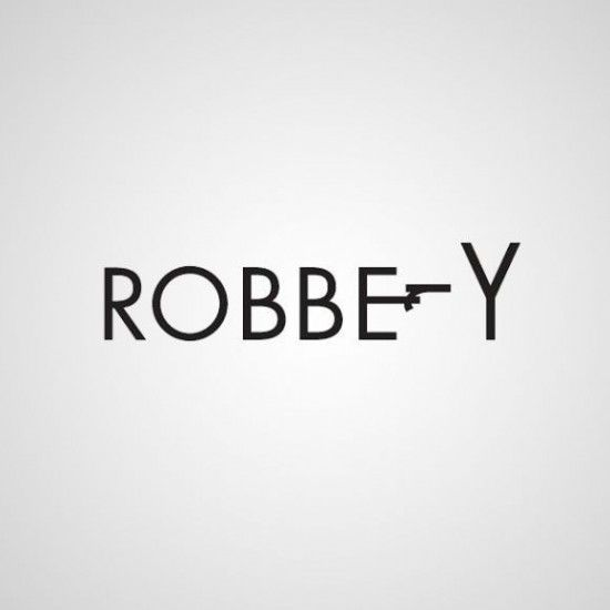 """robbery"" - Word as Image by Ji Lee  http://www.amazon.com/gp/product/0399536957/ref=as_li_tf_tl?ie=UTF8=liberalsprink-20=as2=1789=9325=0399536957 http://www.pleaseenjoy.com/index.php #graphic_design #words #visualization"