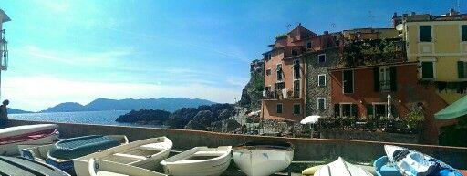 Boats in beautiful Tellaro, Liguria, Italy