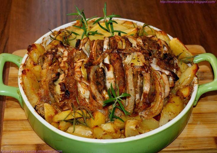 Mama i Pomocnicy: Karczek zapiekany z cebulką, pieczarkami i porem