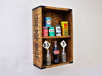 This vintage styled pop shop kitchen wall shelf or spice rack is perfect to add…