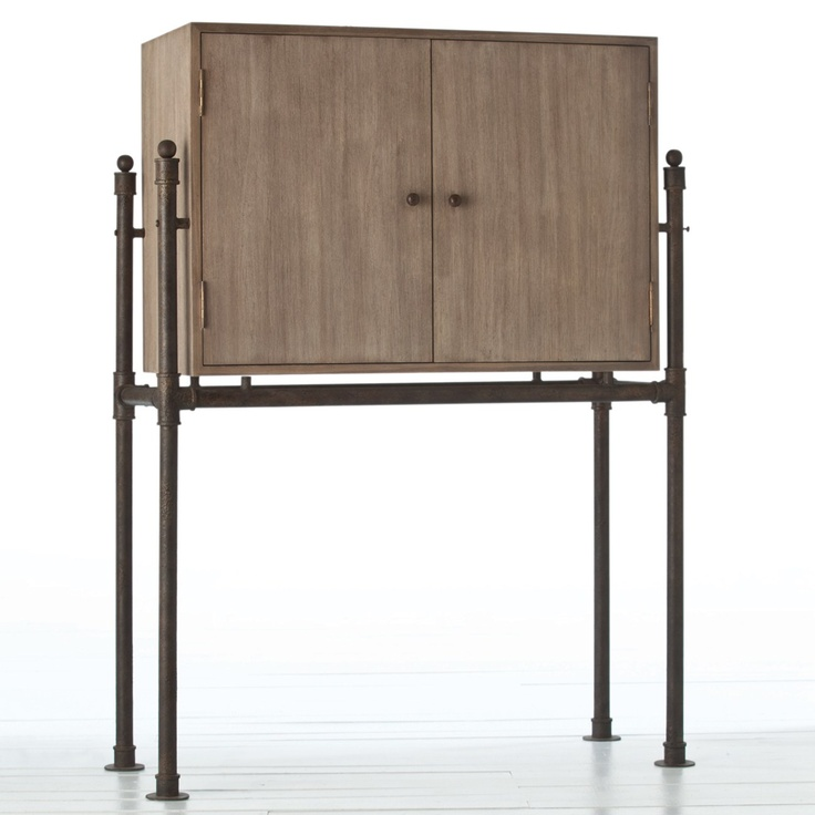 Industrial Chic Bar Cabinet StandDining Room