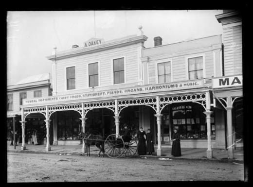 Alfred Oakey, Fancy Goods and Music Store, Nelson - Nelson Provincial Museum