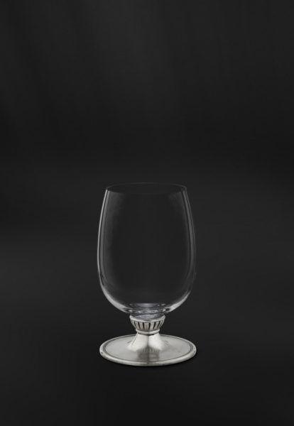 Crystal & Pewter Wine Glass - Height: 12,5 cm (4,9″) - Food Safe Product - #pewter #crystal #wine #glass #peltro #cristallo #bicchiere #vino #zinn #kristallglas #weinkelch #étain #etain #cristal #verre #vin #peltre #tinn #олово #оловянный #glassware #drinkware #barware #accessories #decor #design #bottega #peltro #GT #italian #handmade #made #italy #artisans #craftsmanship #craftsman #primitive