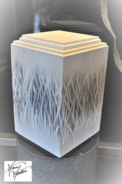 Wood art to caskets