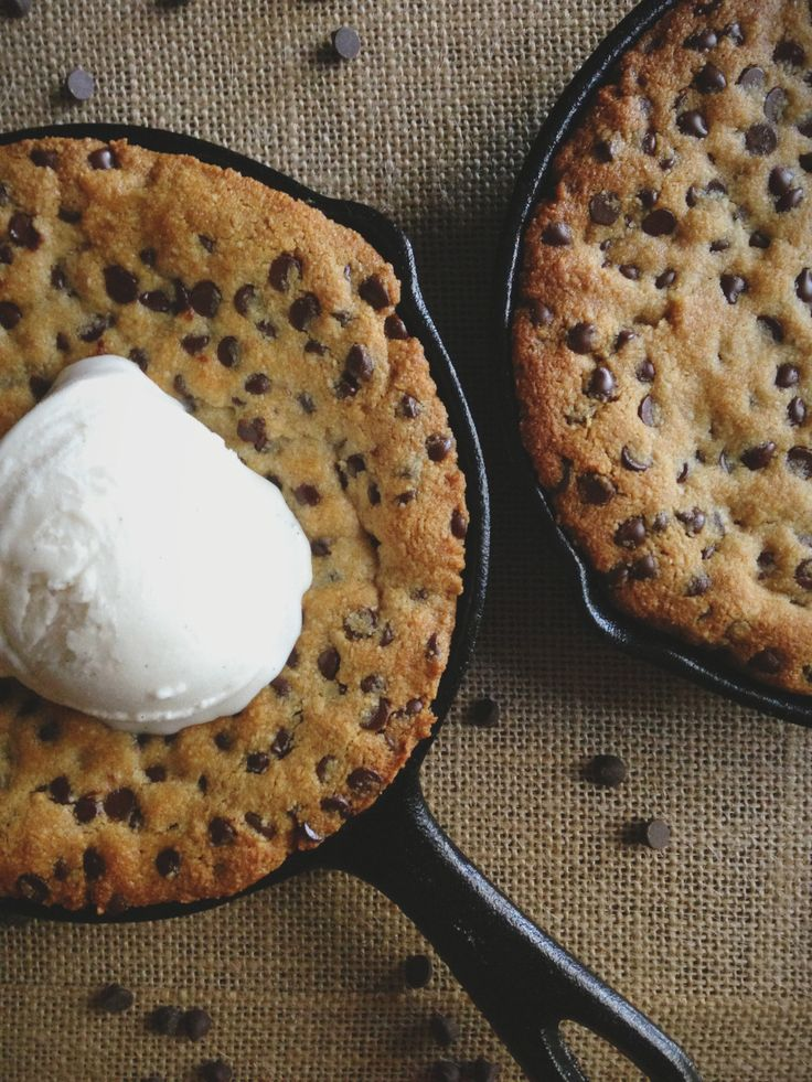 It's a Pizza, It's a Cookie, It's a Paleo Chocolate Chip Pizookie! Recipe courtesy of Clean Eating with a Dirty Mind.