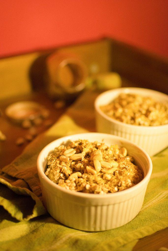 Oat apple-peanut crumble | dooseet