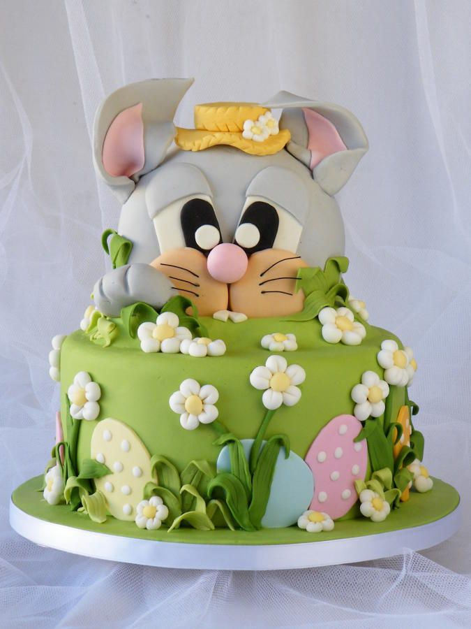 The Bunny and the Easter Egg Hunt - easter treats - easter bunny cake #cake #easter #eastercake