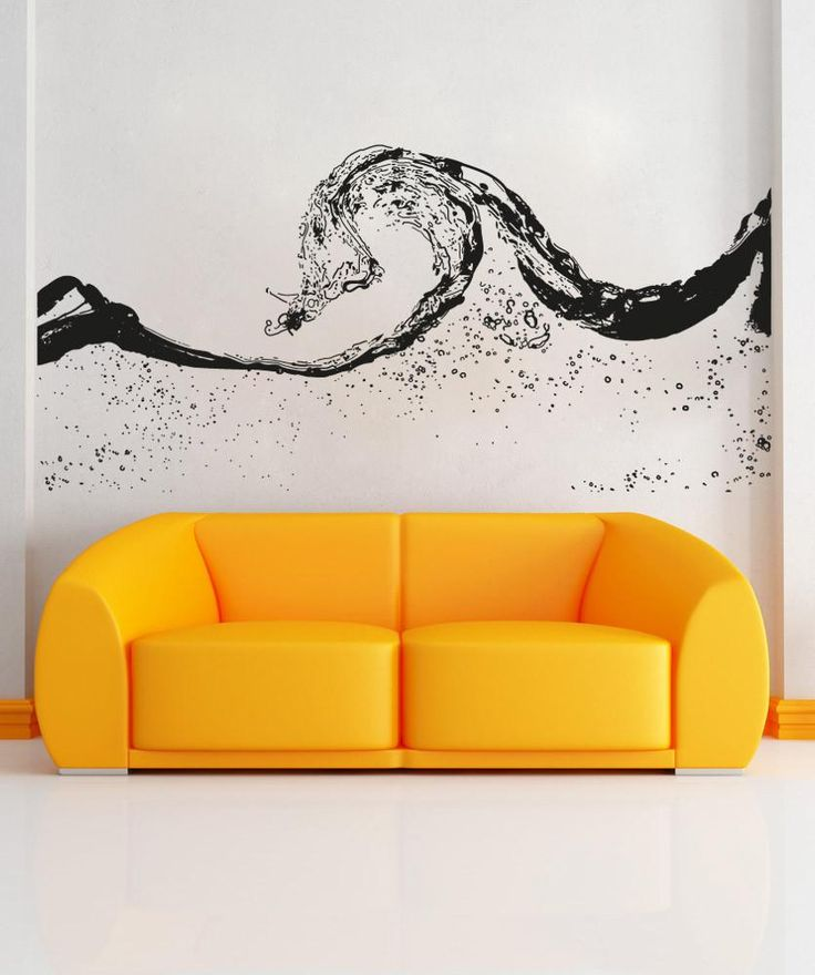 Vinyl Wall Decal Sticker Water Wave #OS_AA1551