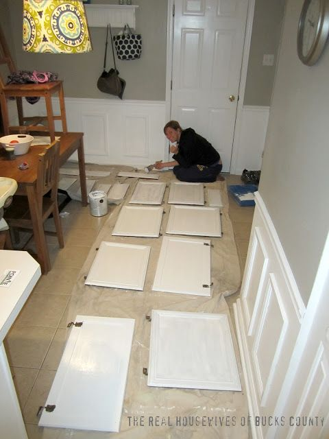 East Coast Creative: How to Paint Cabinets White