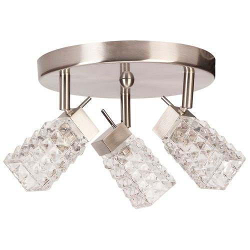 Visit The Home Depot to buy globe Lux Collection Brushed Steel Canopy  Lighting Fixture 5852231 best basement bathroom images on Pinterest   Basement bathroom  . Rona Track Lighting. Home Design Ideas