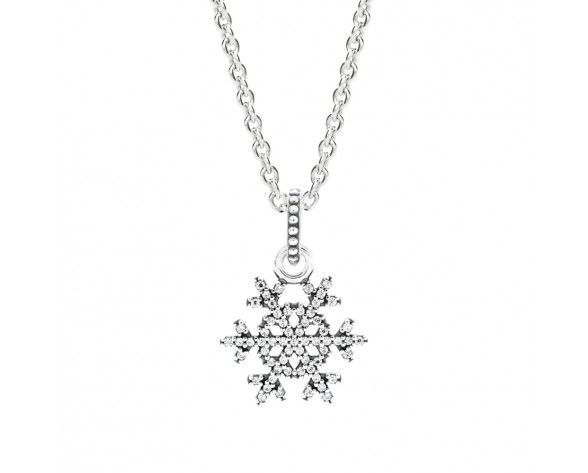 ace144add9c68 Pandora Necklace│Snowflake Necklace | fred & rachels wedding in ...