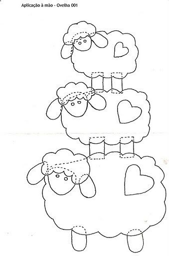 3 sheep pattern. by flavia_sm1963, via Flickr