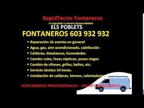 Fontaneros ELS POBLETS 603 932 932