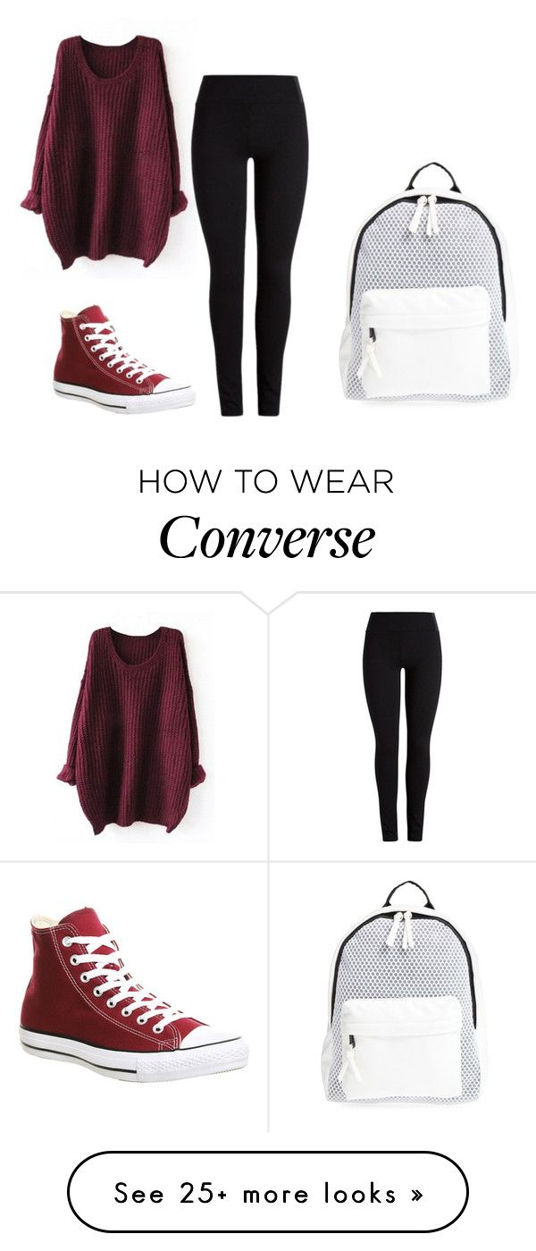 """Untitled #349"" by luka1207 on Polyvore featuring Converse and Poverty Flats"