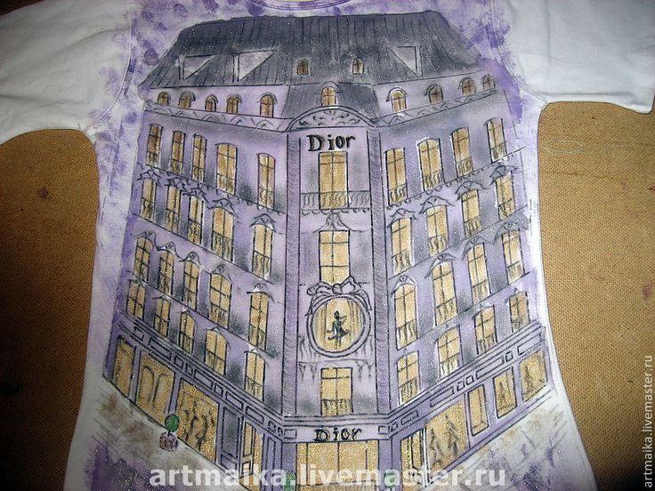 Купить Футболка Paris...Montaigne avenue... Dior...Париж - Париж, французский, Франция, французский стиль