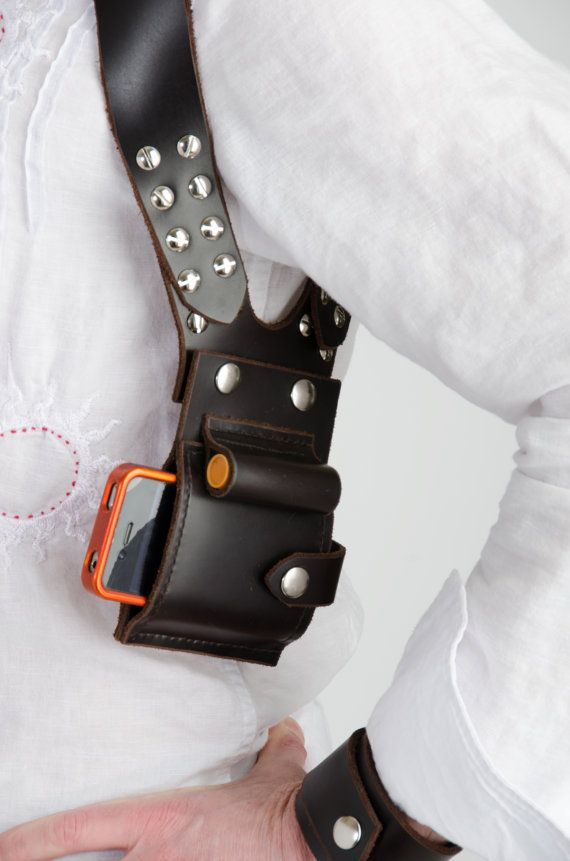 Leather Holster Wallet by WeslabLeatherDesign on Etsy, $90.00