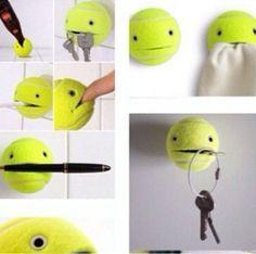 Tennis Ball Key Holder! Bo$$