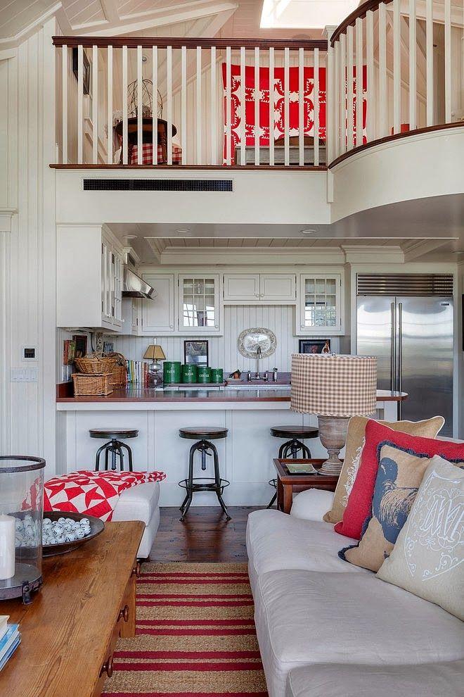 Minty Inspirations   wystrój wnętrz, dodatki i dekoracje do domu, zdjęcia, inspiracje: Biały domek w wiejskim stylu